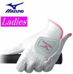 【レディース】ミズノ ホワイトシープ ゴルフグローブ 左手装着用 45GW-00220 ホワイト×ピンク[MIZUNO WHITE SHEEP]【■M■】