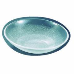 吉沼硝子 硝子和食器 白雪17 25cm 丸盛込皿 RML33