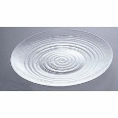 吉沼硝子 硝子和食器 淡路ライン 大皿 ROO1801