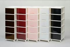 5段 組立式 収納チェスト ラグス カラーチェスト 棚 収納ボックス(代引き不可)【送料無料】