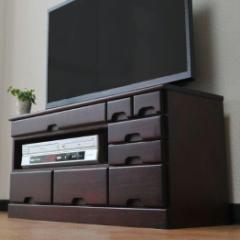 テレビ台 桐製ローボードテレビ台 引き出し付き 32インチまで対応(代引不可)【送料無料】