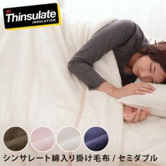 シンサレート あったか 毛布 セミダブル 抗菌防臭加工 洗える【送料無料】