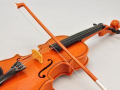 【手動・自動演奏】バイオリン ブラウン 〜楽器玩具(知育玩具)、インテリアにも〜 (代引き不可)【RCP】