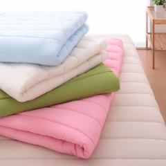 10色×5サイズから選べる!中綿入りでふわふわ!パッド一体型マットレスカバー【Latka】ラトカ ダブル【送料無料】