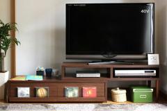 スライドAVボード 【ブラウン】 IW-260 伸縮式 テレビ台 テレビボード AVボード【送料無料】