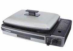 手軽なカセットボンベ式調理器 カセットコンロ ホットプレート プレート付き(代引不可)【送料無料】