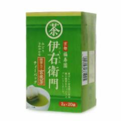 伊右衛門 抹茶入り玄米茶ティーバッグ 2g×20袋 宇治の露製茶