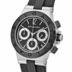 ブルガリ BVLGARI ディアゴノ 自動巻き クロノ メンズ 腕時計 DG37BSCVDCH ブラック【送料無料】【楽ギフ_包装】
