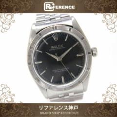 あす着 ROLEX ロレックス オイスターパーペチュアル マシーンベゼル メンズ腕時計 SS 黒文字盤 自動巻き