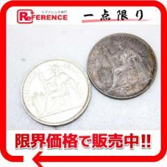 あす着 フランス領インドシナ 1ピアストル銀貨 1899年 1913年 2枚セット 貨幣 古銭 コイン コレクション