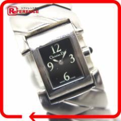 あす着 Dior ディオール D72-100 ブレスウォッチ アール 腕時計 SS レディース ブラック