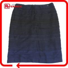 あす着 CHANEL シャネル スカート スカート ネイビーxブラック 09P ボトムス レディース アパレル