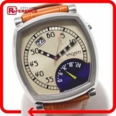 新品同様 あす着 VAGARY バガリー メンズ腕時計 腕時計 SS/革ベルト ウォッチ