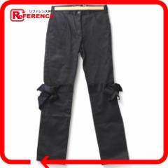 あす着 CHANEL シャネル リボン付き 05A パンツ レディース ボトムス ブラック ファッション ズボン