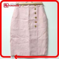 あす着 CHANEL シャネル スカート レディース ボトムス ピンク アパレル ファッション