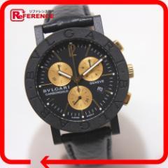 あす着 VLGARI ブルガリ BB38CLCH クロノグラフ ブルガリ・ブルガリ 腕時計 カーボン/革ベルト メンズ