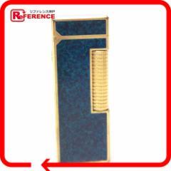 あす着 Dunhill ダンヒル ローラガスライター ライター 喫煙具 タバコ ブルー系xゴールド