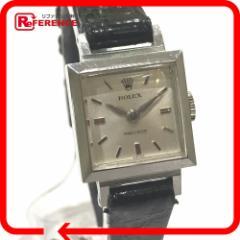 あす着 ROLEX ロレックス 3408 チェリーニ プレシジョン 腕時計 SS/革 レディース ウォッチ