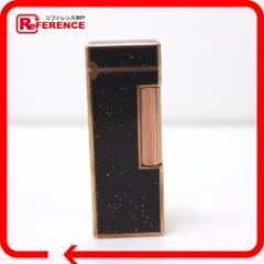 あす着 Dunhill ダンヒル ガスライター ジェムライン ラメ 喫煙具 ライター ラッカー/メタル ブラック