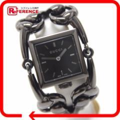 あく着 GUCCI グッチ 116.3 シニョーリア 腕時計 ブラック レディース