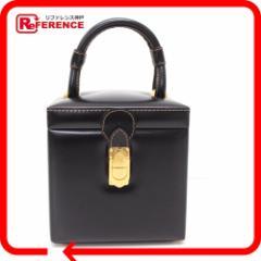 あす着 LOEWE ロエベ バニティバッグ ハンドバッグ レザー ブラック ハンドバッグ バニティ 鞄 トートバッグ ボックス