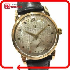 あす着 OMEGA オメガ アンティーク ハーフローター Cal.344 スモールセコンド 腕時計 ゴールド