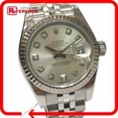 新品同様 あす着 ROLEX ロレックス 179174G ルーレット刻印 デイトジャスト 10Pダイヤ 腕時計