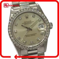 あす着 ROLEX ロレックス 68289G ダイヤベゼル デイジャスト 10Pダイヤ L番 腕時計 ダイヤモンド