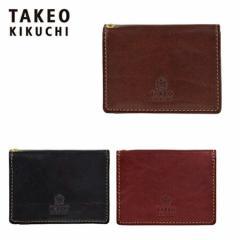 TAKEO KIKUCHI タケオキクチ パスケース 266619 定期入れ レザー 牛革 メンズ エリア