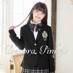 卒業式 スーツ 女の子 ブラックフォーマル 5点セット DECORA PINKYS デコラピンキーズ 子供服 150・160・165 卒服