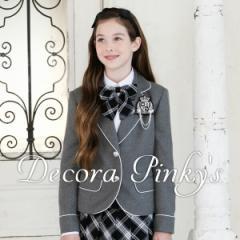 卒業式 スーツ 女の子 5点セット DECORA PINKYS デコラピンキーズ 二コラ 150cm・160cm・165cm 小学校卒業式スーツ ジュニア