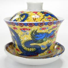 蓋碗 黄龍(ふた付き湯呑み)【中国茶器】