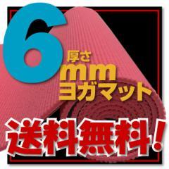 【送料無料!】【レビュー書き込みでさらに専用メッシュケースをプレゼント!】厚さ6mm ヨガマットクッション性抜群!!