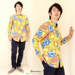 GANESH/ガネーシュ フラワーデザインコットンシャツ【FLOW G700 96:YELLOW】◇