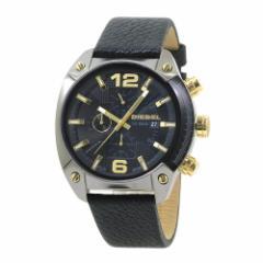 INT-423ディーゼル DZ4375 アドヴァンス オーバーフロー クロノ メンズ ブラック/ブラックレザー  時計/ウォッチ