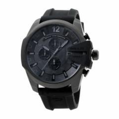 INT-432DIESEL/ディーゼル DZ4378 メガチーフ クロノ メンズ ブラック/ブラックラバー  時計/ウォッチ