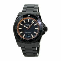 INT-771GUCCI/グッチ YA136213 DIVE/ダイブ XL メンズ オールブラック  時計/ウォッチ