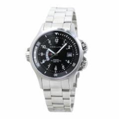 INT-130ハミルトン カーキ ネイビー GMT 自動巻き メンズ H77615133:ブラック