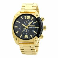 INT-424ディーゼル DZ4342 アドヴァンス オーバーフロー クロノ メンズ ゴールド×ブラック  時計/ウォッチ