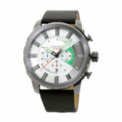 INT-427ディーゼル DZ4410 ストロングホールド クロノ メンズ シルバー/ブラウンレザー  時計/ウォッチ