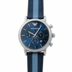 INT-243エンポリオ・アルマーニ ルイージ クロノ AR1949 メンズ ブルー/キャンバス/レザー  時計/ウォッチ
