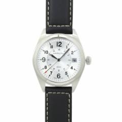INT-348ハミルトン カーキ フィールド クォーツ メンズ H68551753【シルバー/ブラックレザー】【時計/ウォッチ】