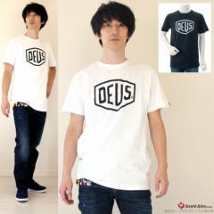 DEUS EX MACHINA/デウスエクスマキナ ロゴプリントTシャツ【SHIELD】【DMW41808E】◇