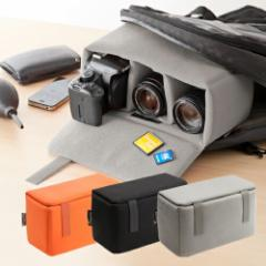 カメラケース カメラ 交換レンズ 収納 インナーボックス ソフトクッションボックス インナーカメラバッグ [200-BG019]
