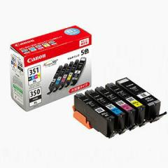 【送料無料】キャノン 純正インク BCI-351XL+350XL/5MP 5色パック 大容量 インクタンク キヤノン [BCI351XL350XL5MP]