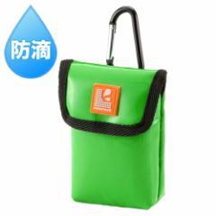 [訳あり在庫処分]カメラケース 水・汚れに強い素材 グリーン デジカメケース カメラバッグ[DG-BG47G]