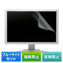 【送料無料】ブルーライトカット液晶保護フィルム(20型対応・反射防止・指紋防止)[LCD-200WBCAR]