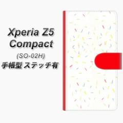 メール便送料無料 Xperia Z5 Compact SO-02H 手帳型スマホケース 【ステッチタイプ】【FD814 色鉛筆(藤浪)】(エクスペリアZ5コンパクト
