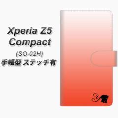 メール便送料無料 Xperia Z5 Compact SO-02H 手帳型スマホケース 【ステッチタイプ】【YI866 イニシャル ネコ Y】(エクスペリアZ5コンパ