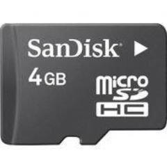 人気★4GB マイクロSDHC+SDカードアダプタ(新品バルク)サンディスク★携帯電話/デジカメ(SDSDQ-4096)microSDHCカード
